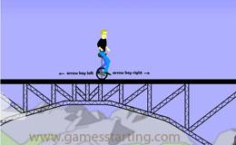 Balance on One Wheel Game